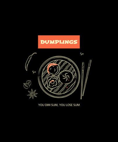 T-Shirt Creator Featuring a Drawing of Some Dumplings 1699a-el1