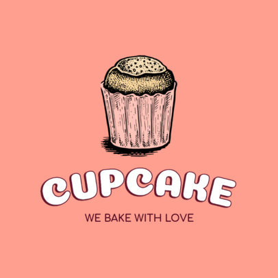 Bakery Logo Generator Featuring a Hand-Drawn Cupcake Graphic 1747e-el1