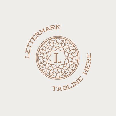 Monogram Logo Generator Featuring an Elegant Typography 3316k