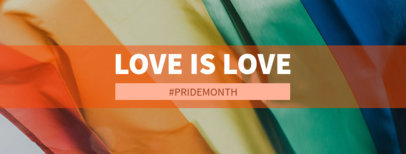 Facebook Cover Maker with a Love is Love Quote and a Rainbow Flag 1085j-2594