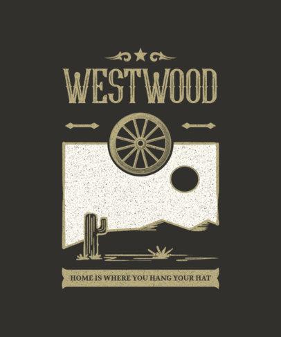 T-Shirt Design Generator with a Wild West Landscape Icon 1709b-el1