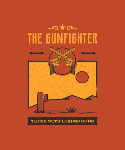 Wild West T-Shirt Design Maker Featuring Gun Graphics 1709c-el1