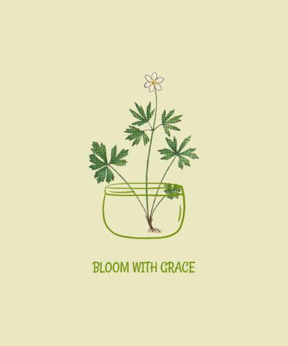 Illustrated T-Shirt Design Maker Featuring a Beautiful Flower 1659e-el1