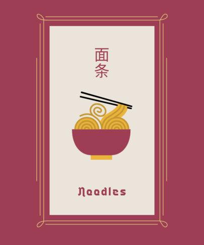 T-Shirt Design Creator Featuring a Noodles Bowl Graphic 1687c-el1