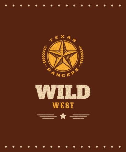 T-Shirt Design Maker Featuring a Cowboy Star Graphic 1707a-el1
