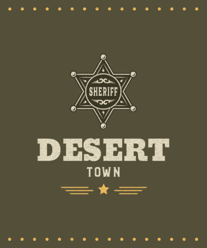 T-Shirt Design Creator with a Sheriff Badge Icon 1707b-el1