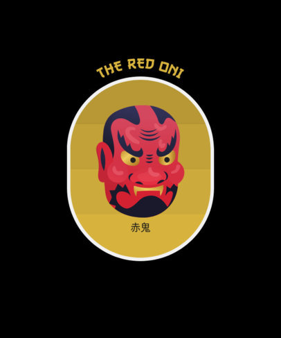 T-Shirt Design Generator with an Oni Mask Clipart 1668c-el1