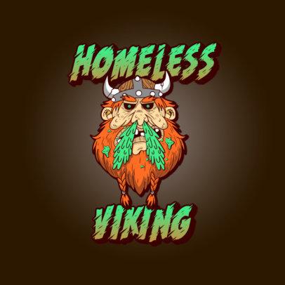 Cartoonish Logo Maker Featuring a Homeless Viking 3329d