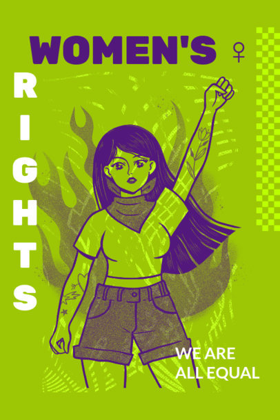 Feminist Poster Design Creator for a Women's Rights Calling 2572c