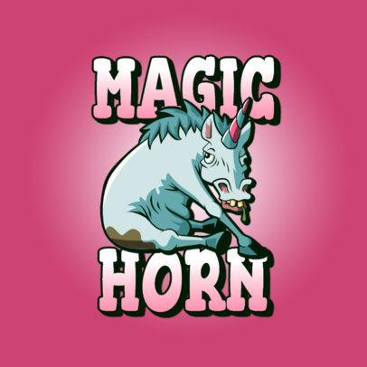 Gaming Logo Maker Featuring a Dirty Horse Cartoon 3329h
