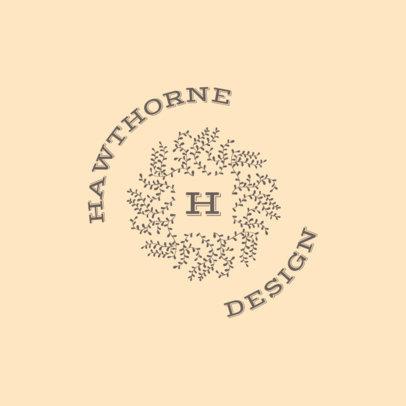 Abstract Logo Creator with an Organic Monogram 3316d