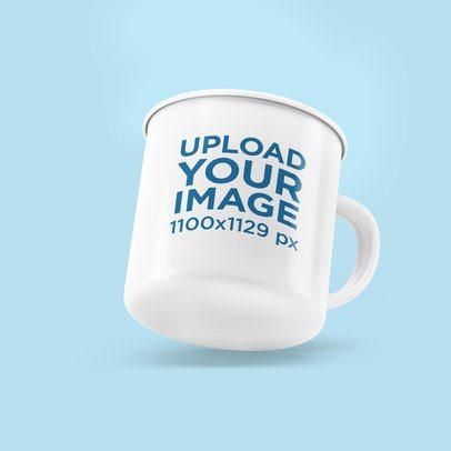 12 oz Enamel Mug Mockup With a Customizable Background 4497-el1