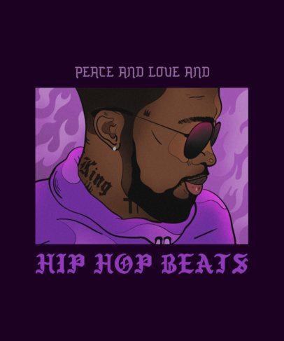 T-Shirt Design Maker Featuring a Hip Hop Artist Illustration 2606e