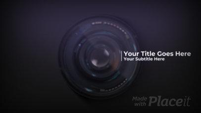 Photography Intro Maker Featuring a Camera Lens 178-el1