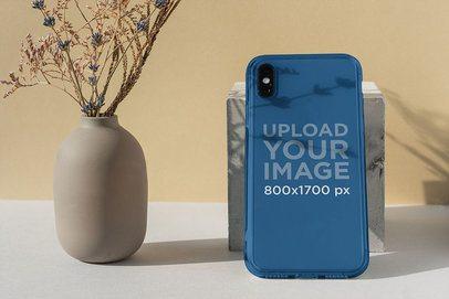 Clear Phone Case Mockup Featuring a Minimalistic Setting 4602-el1