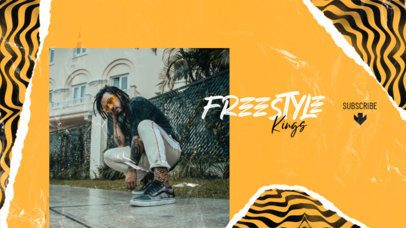 Fresh YouTube Banner Template for a Freestyle Rap Artist 2604g