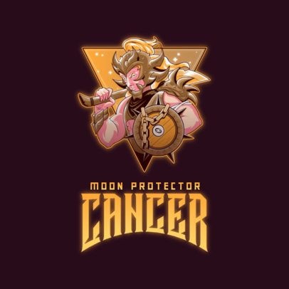Gaming Logo Creator Featuring a Cancer Moon Guardian Illustration 3348e