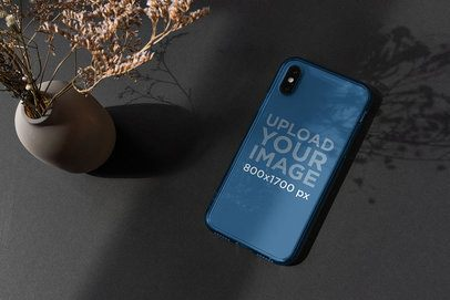 Mockup of a Clear Phone Case Featuring an Ornamental Vase 4607-el1