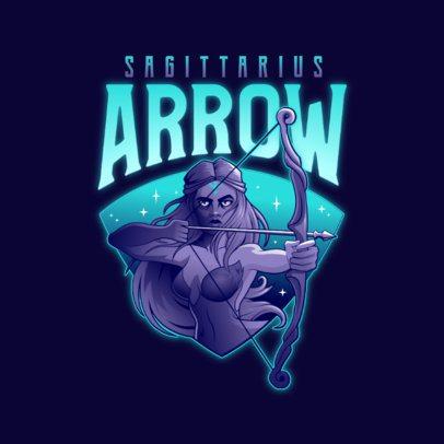Gaming Logo Template with a Sagittarius Female Archer 3348e