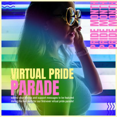 Instagram Post Design Maker for a Virtual Pride Parade 2642b
