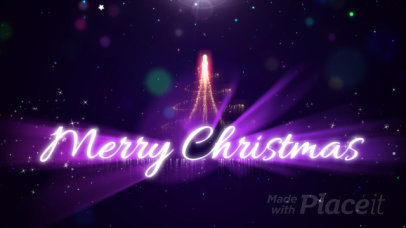Intro Maker for Christmas Featuring Sparkling Animations 1280-el1