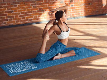 Mockup of a Woman Doing a Pose on a Yoga Mat 37094-r-el2
