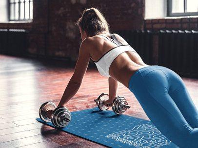 Mockup of a Strong Woman Exercising on a Yoga Mat 37226-r-el2