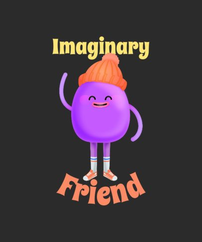 Cartoonish T-Shirt Design Generator Featuring an Imaginary Friend Illustration 2652j