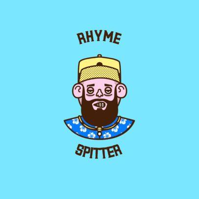 Avatar Logo Maker Featuring a Bearded Musician 3334g