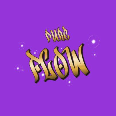 Logo Maker with Graffiti-Style Metallic Font 3366c