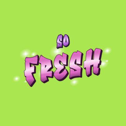 Fresh Logo Maker for a Streetwear Brand Featuring a Gradient Font 3366e