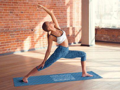 Yoga Mat Mockup Featuring a Woman Doing a Pose 37106-r-el2
