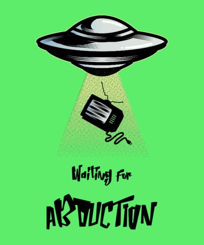 Abduction-Themed T-Shirt Design Maker for Alien Fans 1716j-2665