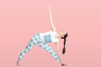 Tank Top and Leggings Mockup of a Woman Stretching 38271-r-el2
