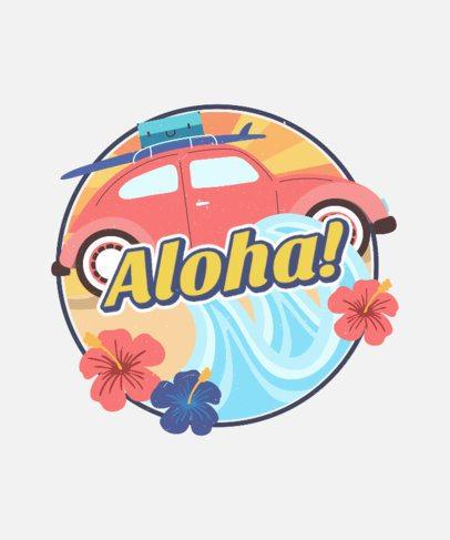 Retro T-Shirt Design Creator with a Hawaiian Style 2630c