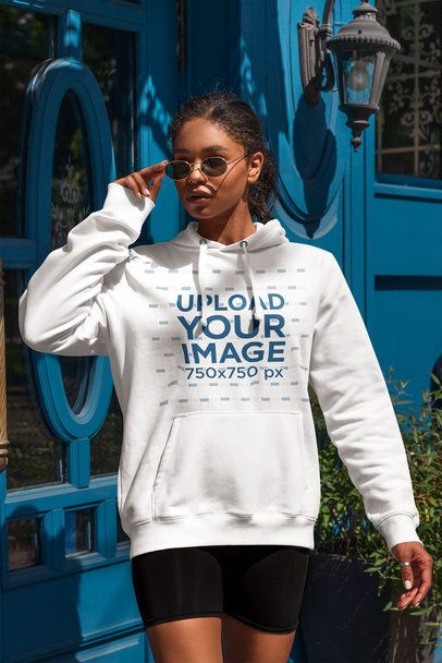 Mockup of a Woman With an Athleisure Style Wearing a Hoodie 4852-el1