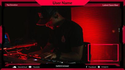 Twitch Overlay Maker for an Independent Musician with a Webcam Frame 2678