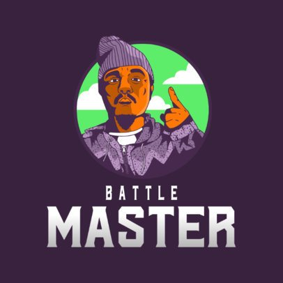 Illustrated Logo Generator with the Face of a Hip Hop Master 3409a