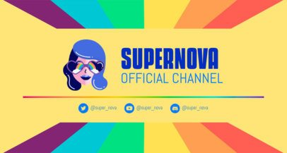 Twitch Banner Generator with Rainbow Colors 2668b