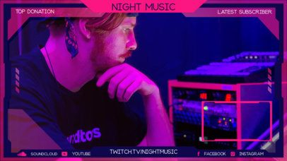 Twitch Overlay Maker for a Music Video Reaction with a Webcam Frame 2678c