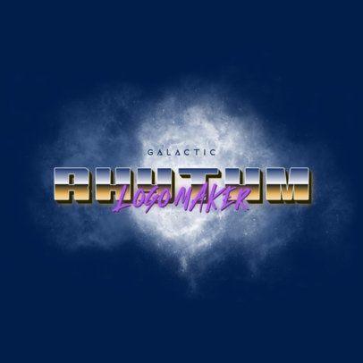 Retro Logo Creator with a Galactic Design 3398a