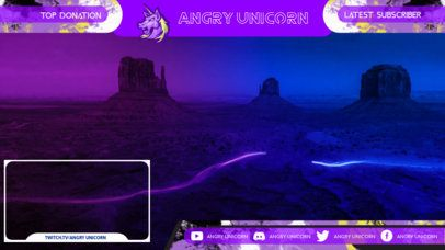 Twitch Overlay Template for an LGBTQ-Support Streaming with a Unicorn Graphic 2669e
