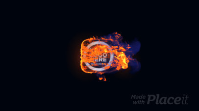 Intro Maker Featuring Explosive Fire Animations 1605-el1