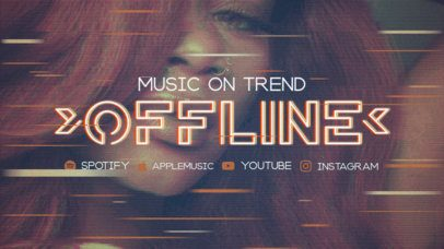 Twitch Offline Banner Maker Featuring Icons of Music Platforms 2700c