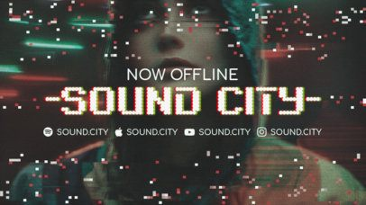 Twitch Offline Banner Template for an Independent Musician's Channel 2700i
