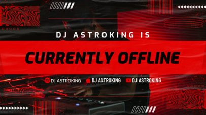 Twitch Offline Banner Creator Featuring Icons of Music Platforms for a DJ 2705c