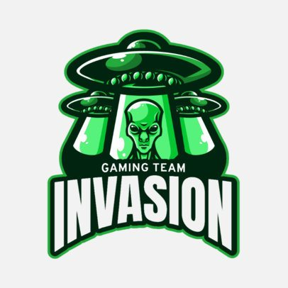 Illustrated Logo Generator for a Gaming Squad Featuring Alien Spaceships 2034a-el1
