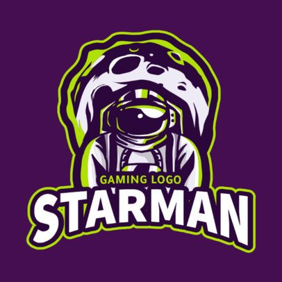 Gaming Logo Generator Featuring an Illustration of an Astronaut and an Asteroid 2034d-el1