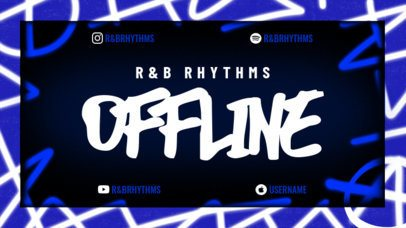 Street-Style Twitch Offline Banner Creator Featuring Colorful Graffiti Graphics 2703m