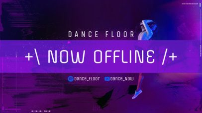 Twitch Offline Banner Template Featuring a Gradient Color Background 2705h